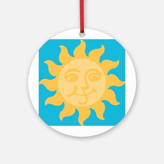 Happy Sun Ornament (Round)