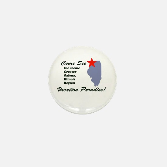 Come See Galena, IL Mini Button