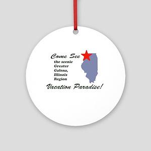 Come See Galena, IL Ornament (Round)