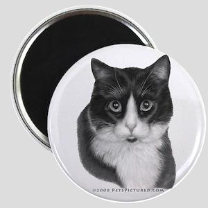 Black & White Kitty Magnet