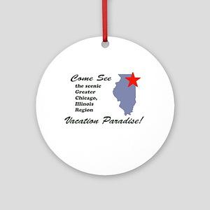 Come See Chicago, IL Ornament (Round)