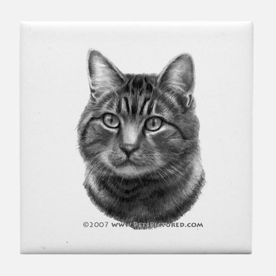 Tiger Cat Tile Coaster