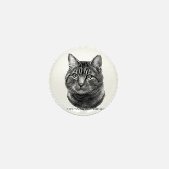 Tiger Cat Mini Button