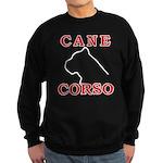 Cane Corso Logo Red Sweatshirt (dark)
