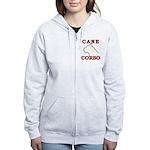 Cane Corso Logo Red Women's Zip Hoodie
