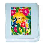Hummingbird in Tropical Flower Garden Print baby b