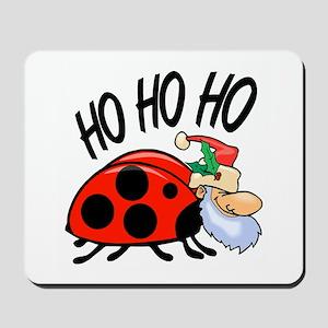 Ladybug Santa Mousepad