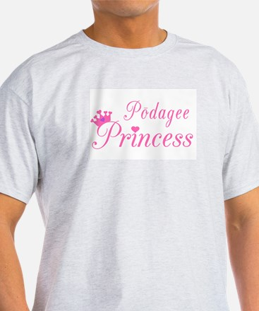 Podagee Princess Ash Grey T-Shirt