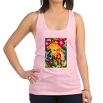 Hummingbird in Tropical Flower Garden Print Tank T