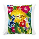 Hummingbird in Tropical Flower Garden Print Everyd