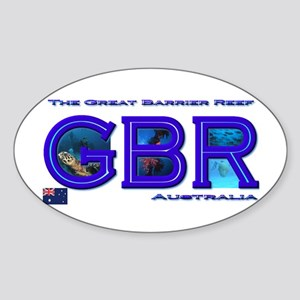 Dive The Great Barrier Reef Oval Sticker