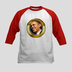 Obama Gold Seal Kids Baseball Jersey