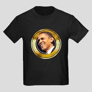 Obama Gold Seal Kids Dark T-Shirt