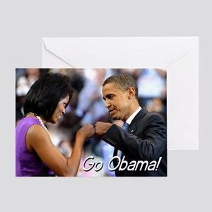 Obama Fist Bump Greeting Card