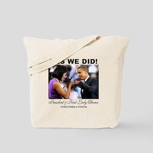Obama Fist Bump Tote Bag
