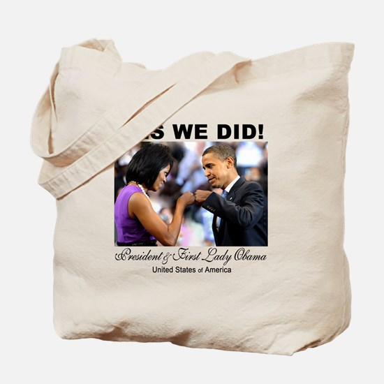 Obama Fist Bump Tote Bag