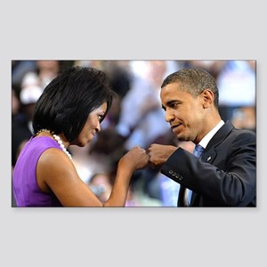 Obama Fist Bump Rectangle Sticker