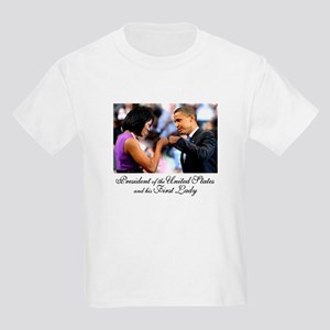 Obama Fist Bump Kids Light T-Shirt