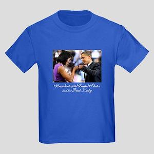 Obama Fist Bump Kids Dark T-Shirt