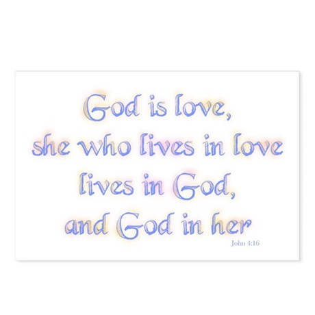She who lives in love Postcards (Package of 8)