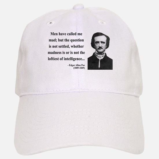 Edgar Allan Poe 18 Baseball Baseball Cap