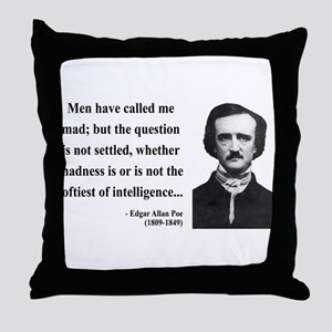Edgar Allan Poe 18 Throw Pillow