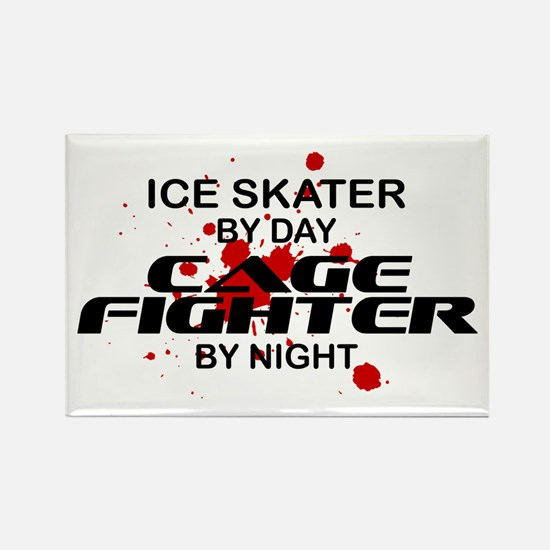 Ice Skater Cage Fighter Rectangle Magnet