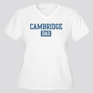 Cambridge dad Women's Plus Size V-Neck T-Shirt