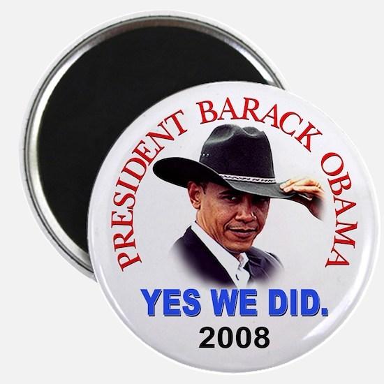 Yes We Did (Cowboy) Magnet