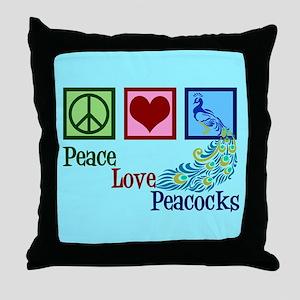 Cute Peacock Throw Pillow