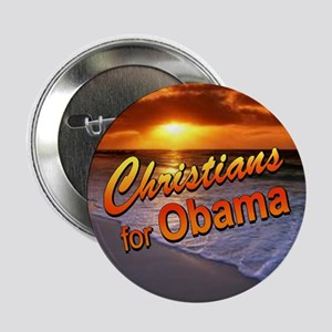 """Christians for Obama 2.25"""" Button (sunset)"""