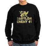 Babylon Enemy #1 Retro Sweatshirt (dark)