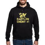 Babylon Enemy #1 Retro Hoodie (dark)