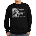 Truth Quote Sweatshirt (dark)
