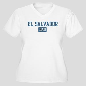 El Salvador dad Women's Plus Size V-Neck T-Shirt