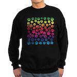 Rainbow Cat Tracks Sweatshirt (dark)