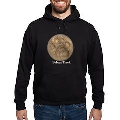 Real Bobcat Pawprint Hoodie (dark)