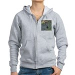 Black Tailed Jackrabbit Women's Zip Hoodie