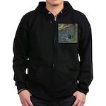 Black Tailed Jackrabbit Zip Hoodie (dark)