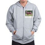 Doe in Grass Zip Hoodie