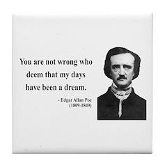 Edgar Allan Poe 23 Tile Coaster