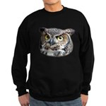 Great Horned Owl Face Sweatshirt (dark)