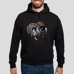 Wild Turkey Pair Hoodie (dark)