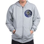 Living With Nature Quote Zip Hoodie