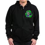 Earth Day Recycle Zip Hoodie (dark)