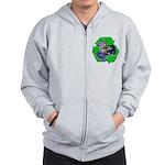 Earth Day Recycle Zip Hoodie