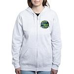 Stop Global Warming Women's Zip Hoodie