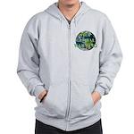 Stop Global Warming Zip Hoodie