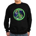 Earth Peace Symbol Sweatshirt (dark)