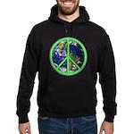 Earth Peace Symbol Hoodie (dark)